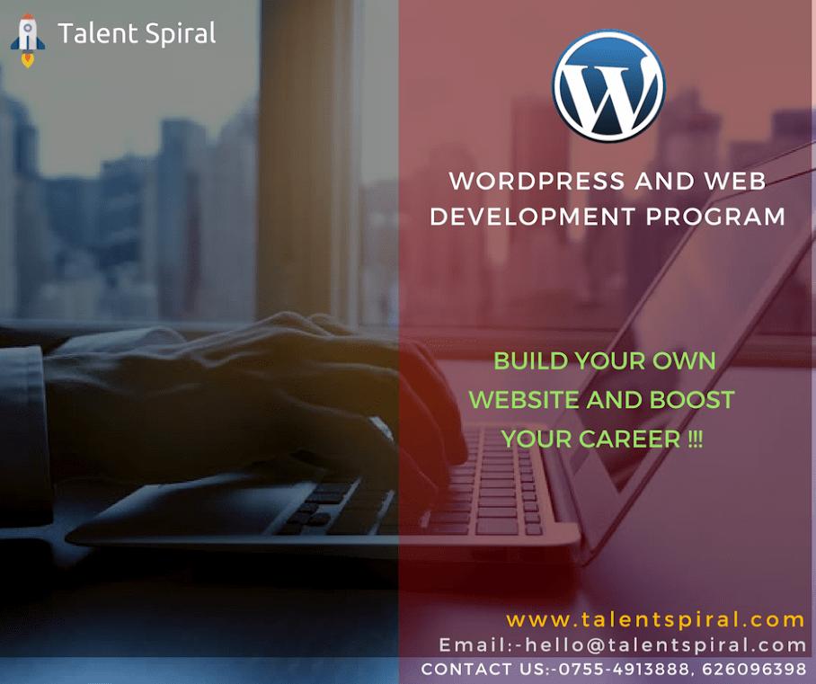 WordPress training in Bhopal